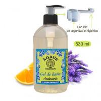 Gel Antiestrés, baño y ducha-Cosmética natural Ágave-500 ml