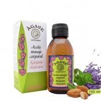 Relajante antiestres. Aceite para masaje, Cosmética natural, Ágave